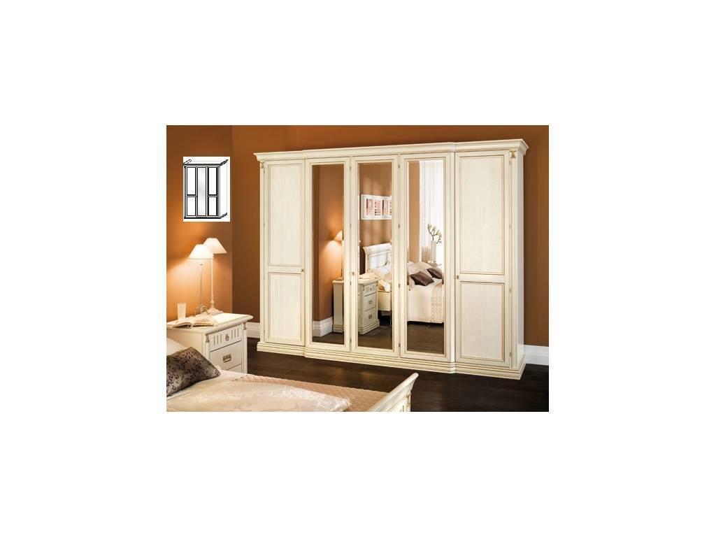 M. Villanova: Анжелика: шкаф 3-х дверный, 1 зеркало h227  (бежевый)