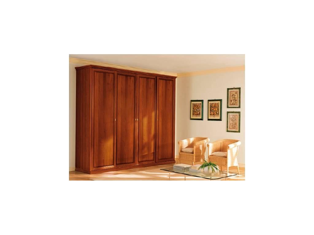 M. Villanova: Aurora: шкаф 4-х дверный h210  (орех,золото)
