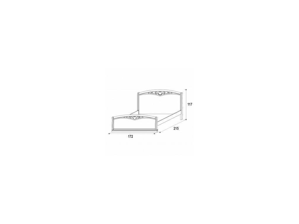 M. Villanova: Aurora: кровать двуспальная  160х200 (беж)