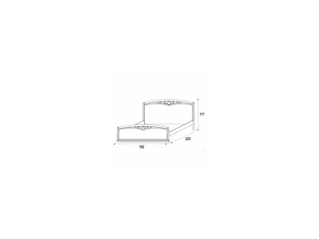 M. Villanova: Aurora: кровать двуспальная  180х200 (беж)