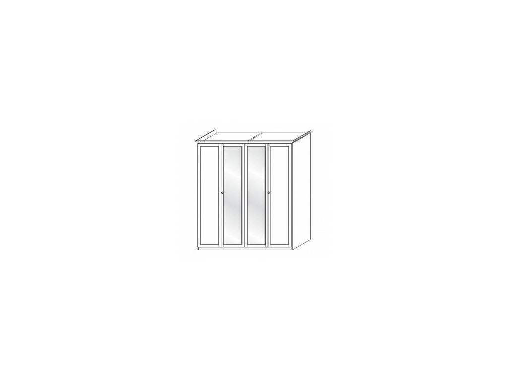 M. Villanova: Aurora: шкаф 4-х дверный  2 зерк (беж)