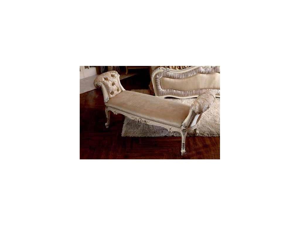 Nijoy: Джульетта: кушетка  ткань (слоновая кость, серебро)