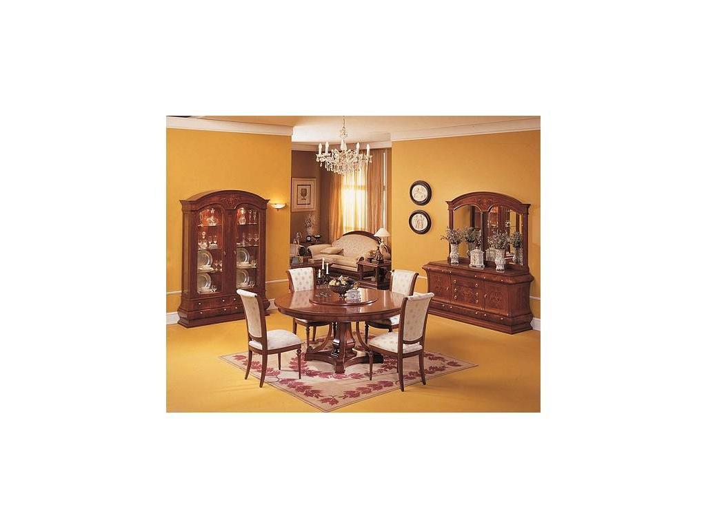 Vicente Zaragoza: Верона: стол обеденный раскладной круглый 180 см  (орех)