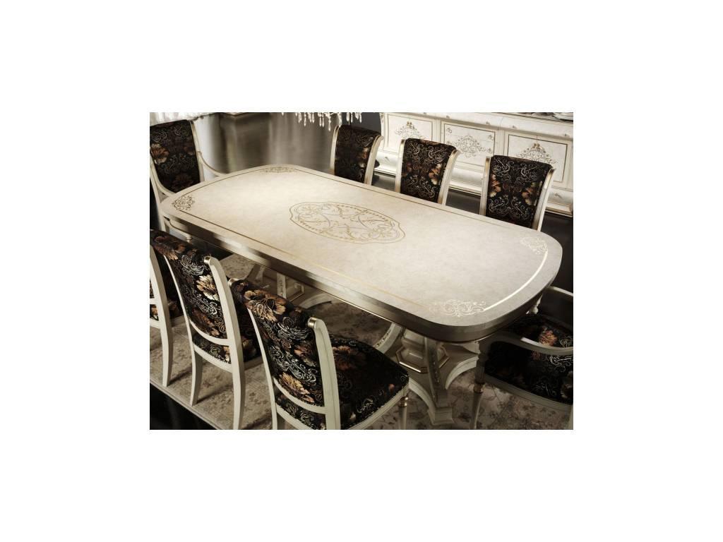 Vicente Zaragoza: Верона 47: стол обеденный 230 см.  (золото, лак)