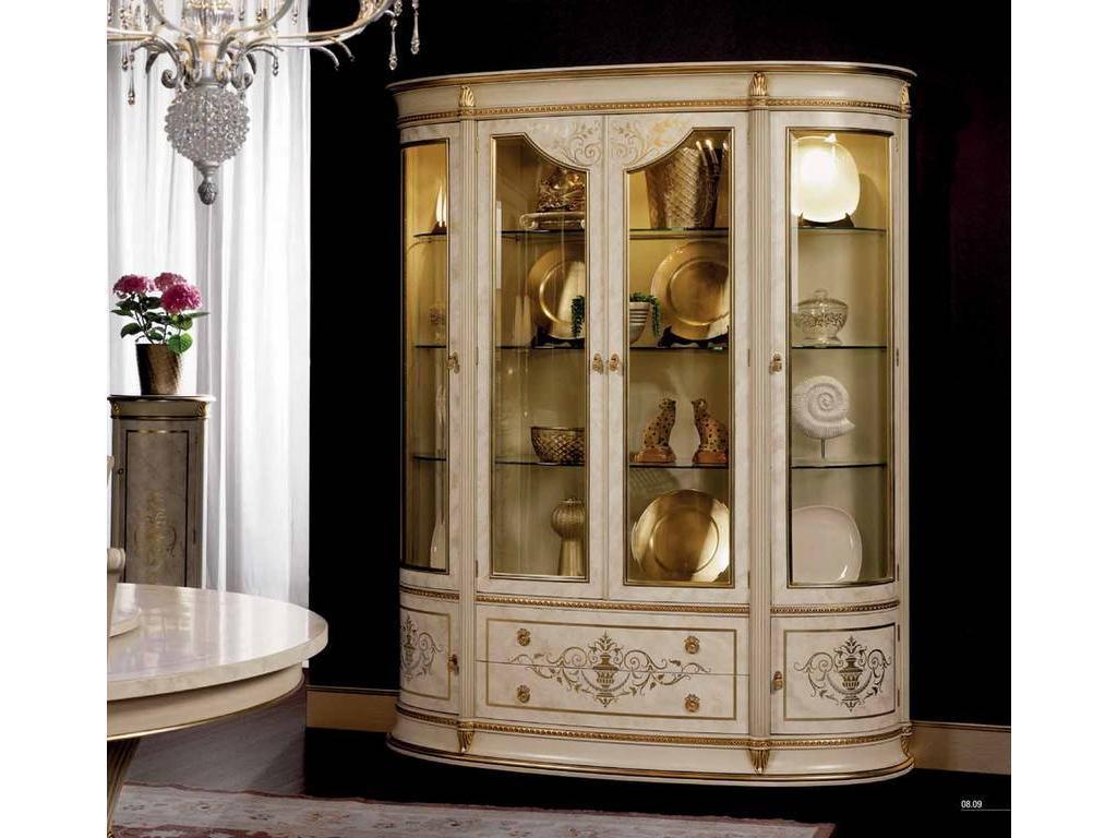 Vicente Zaragoza: Калифорния: витрина 4-х дверная  (белый, золото)