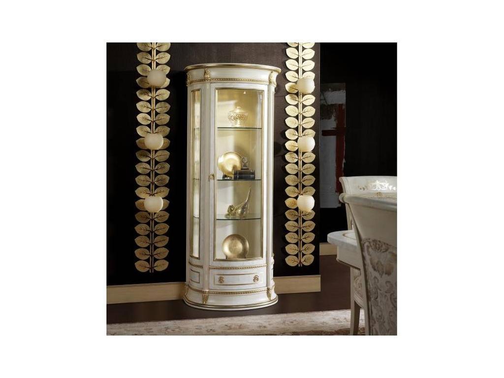 Vicente Zaragoza: Калифорния: витрина 1 дверная  (белый, золото)