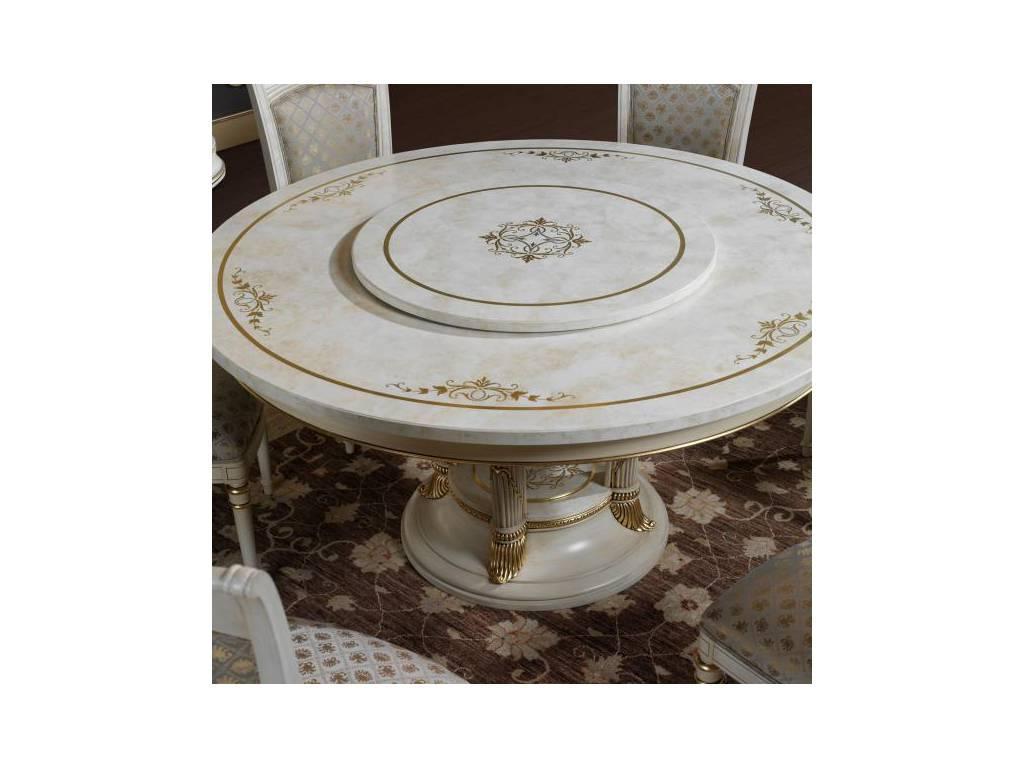 Vicente Zaragoza: Калифорния: стол обеденный  с фуршетницей (белый, золото)