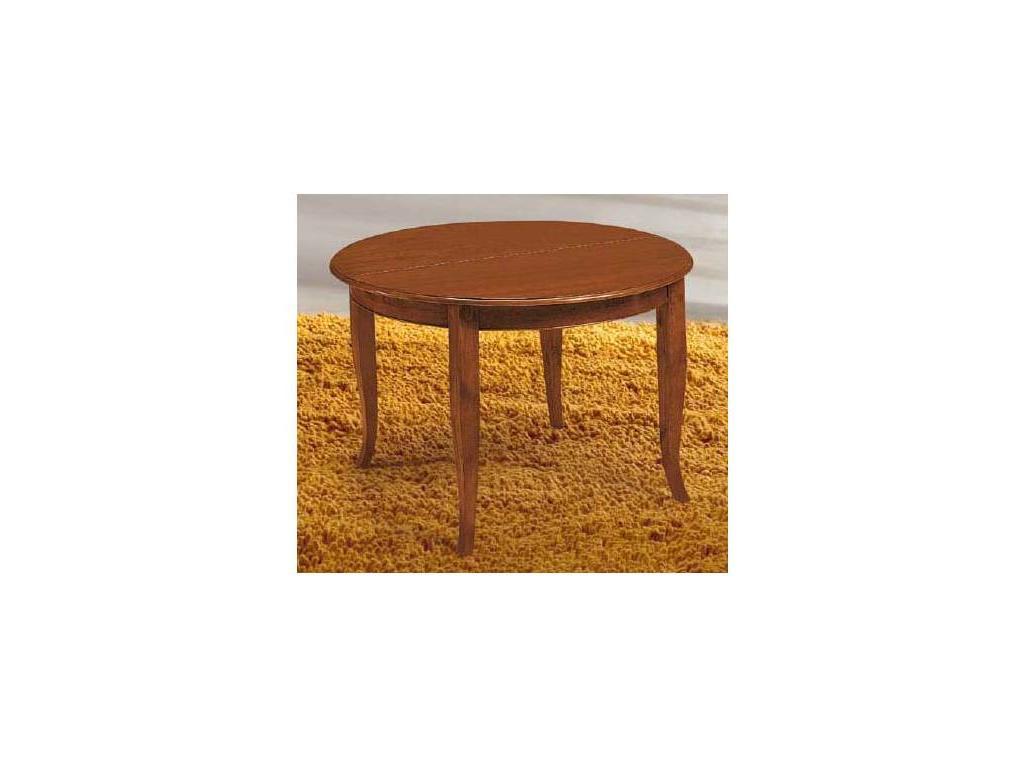 Modenese Gastone: стол обеденный круглый раскладной 120/160 (орех)