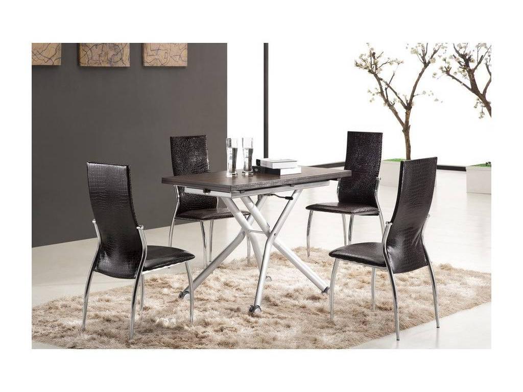 СФ: стол-трансформер  110/120х60/120х38/76 (вишня, венге)