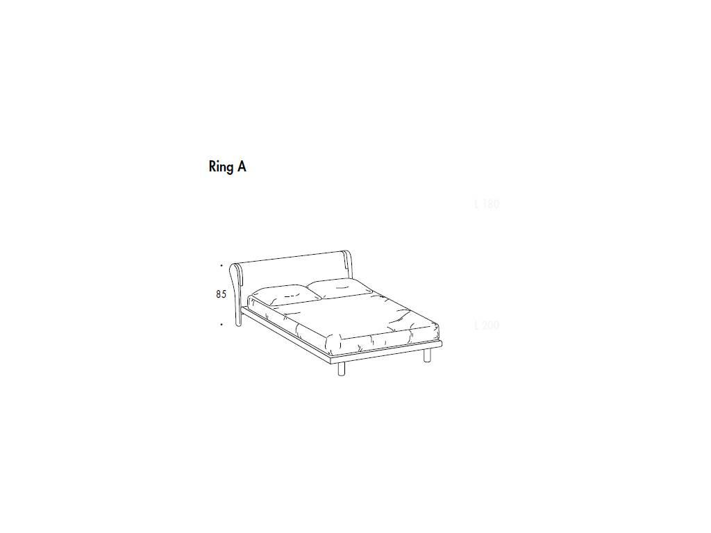 SMA: Trendy: кровать 163х198 ринг А  (белый ясень)