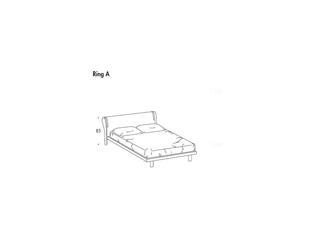 SMA: Trendy: кровать 180х198 ринг А  (белый ясень)