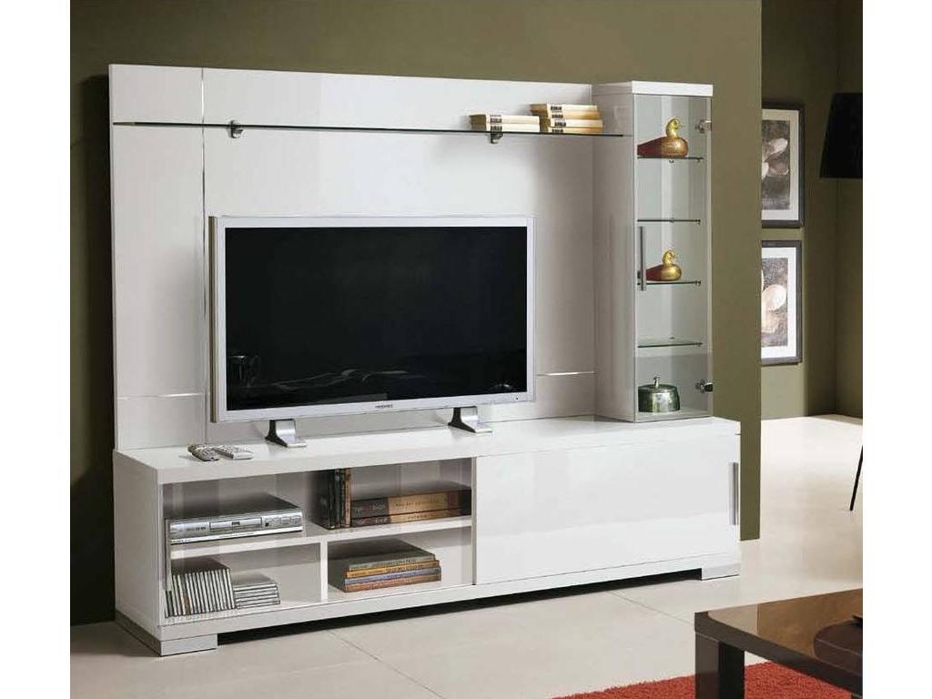 Стенка под телевизор в современном стиле своими руками