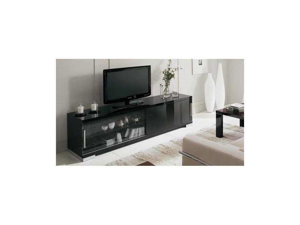 ALF: Etnico: тумба под телевизор Siena  (черный лак)