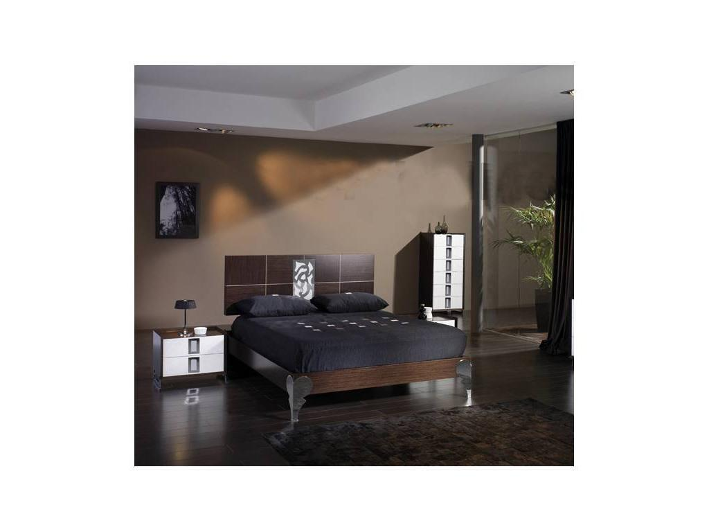 Proforma Diseno: Dune: кровать 150х190 (wengue,plata)