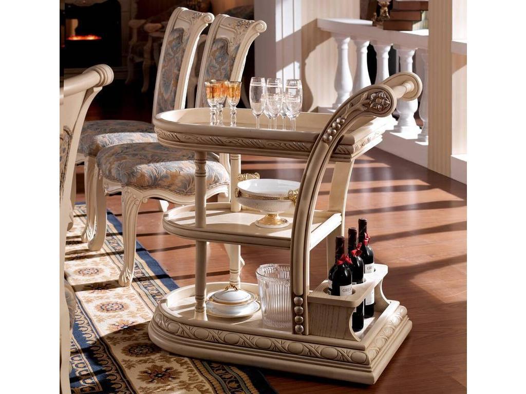 Carpenter: Изабелла: стол сервировочный  (белый, серебро)