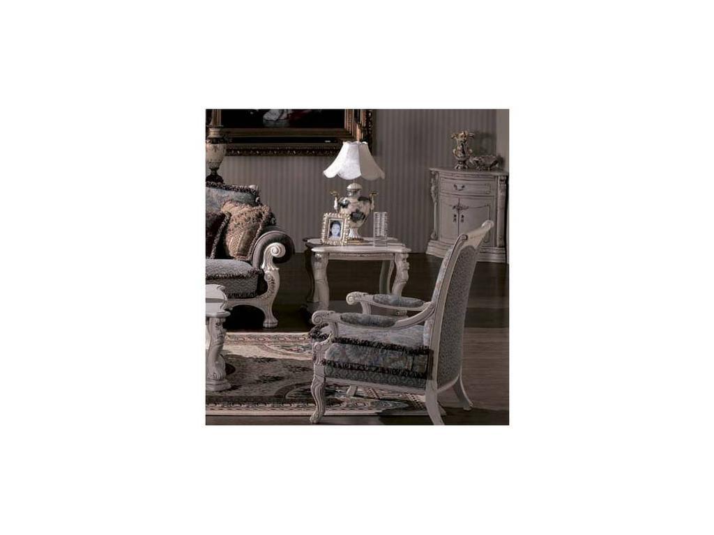 Carpenter: Изабелла: стол журнальный  (белый, серебро)