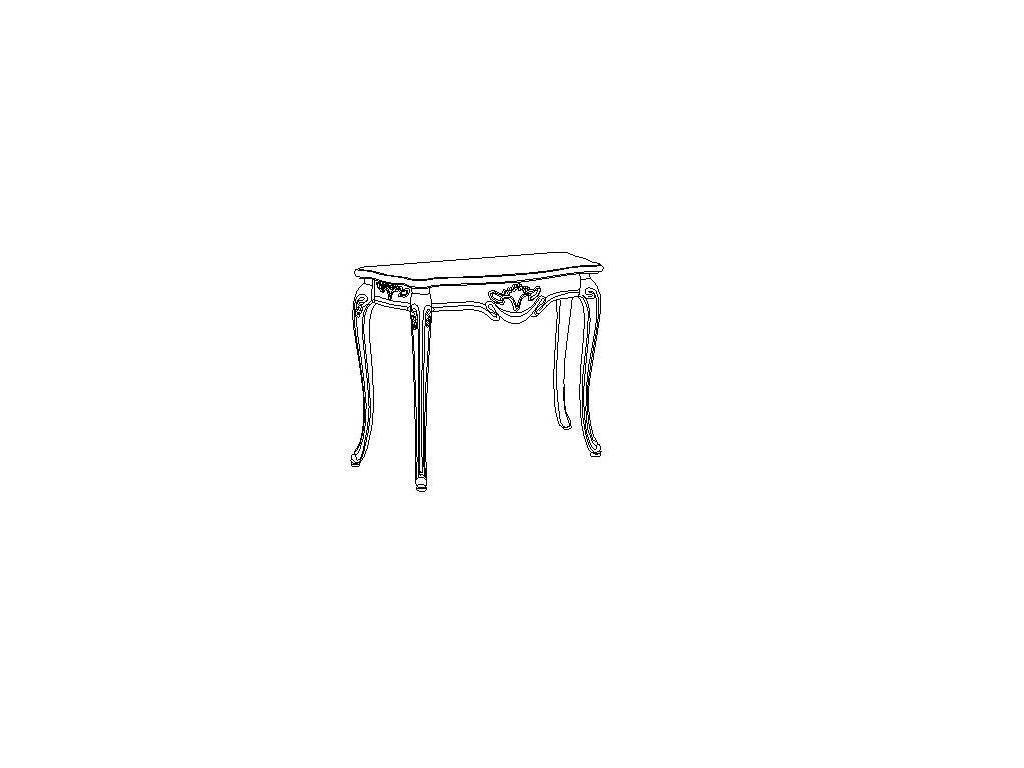 Carpenter: Амелия: консоль  (белый, серебро)