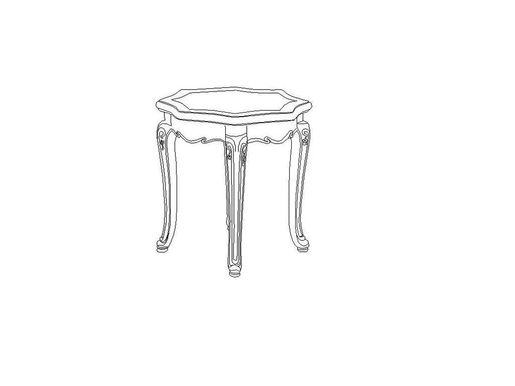 Carpenter: Амелия: стол кофейный  (белый, серебро)
