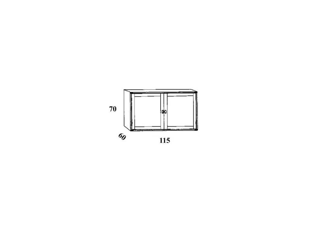 Caroti: антресоль с 2 дверками  (натуральный светлый)