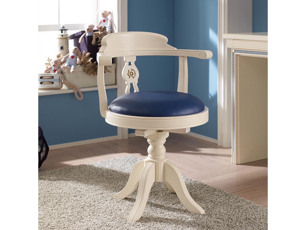 Caroti: кресло  вращающееся (белый, синий)