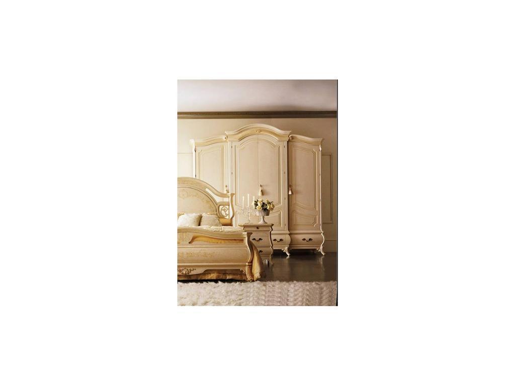 Grilli Грилли: Рондо: шкаф 4-х дверный  инкрустация (слоновая кость)