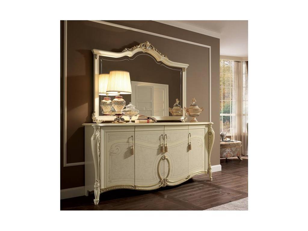 Arredo Classic: Tiziano: зеркало для прилавка 4-х дв. (слоновая кость)