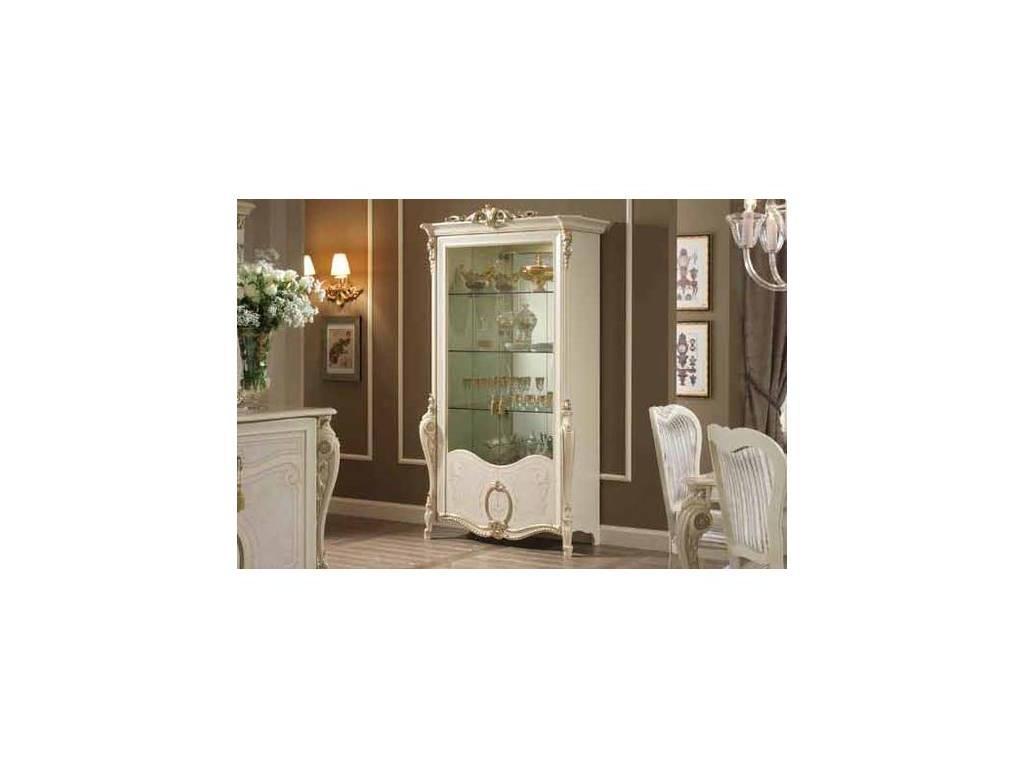 Arredo Classic: Tiziano: витрина 2-х дверная (слоновая кость с золотом)