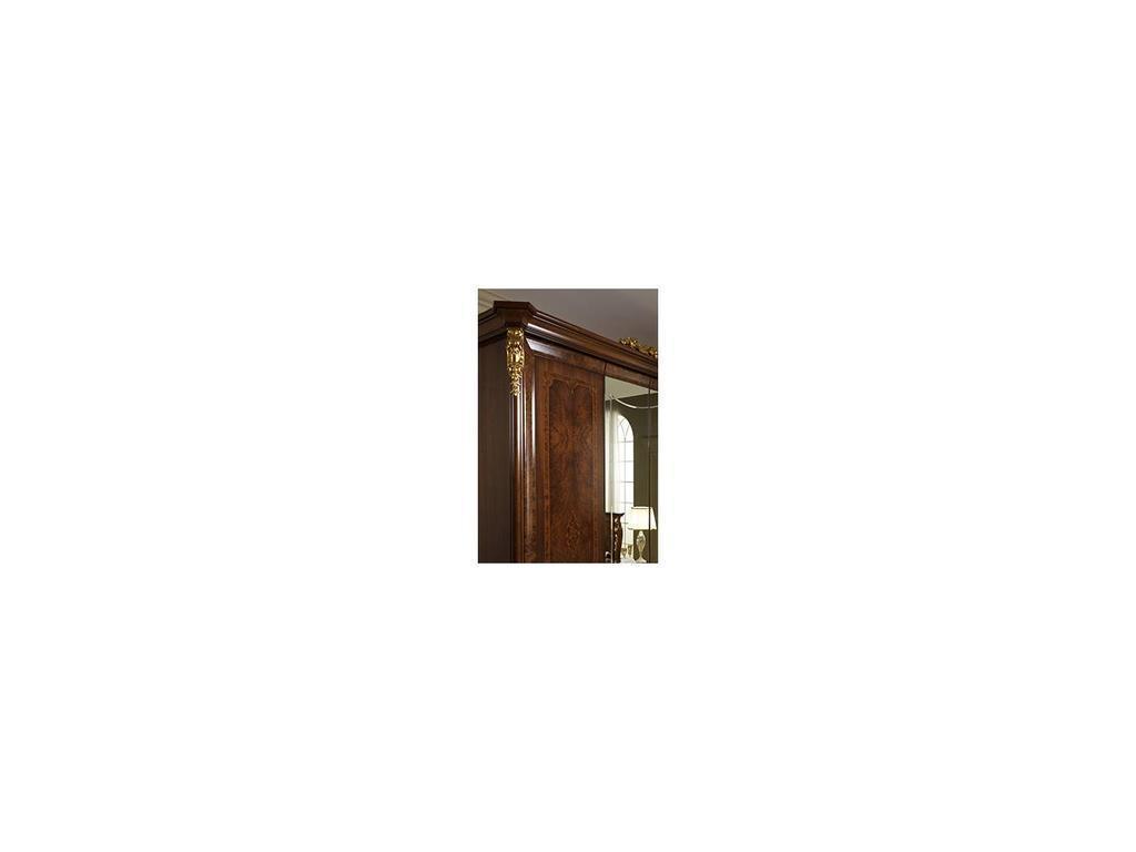 Arredo Classic: Donatello: шкаф 4-х дверный 2 зеркала (орех)