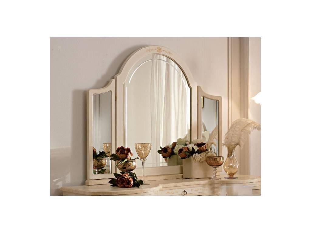 А и М Ghezzani: Принцесса: зеркало для туалетного стола (слоновая кость, золото)