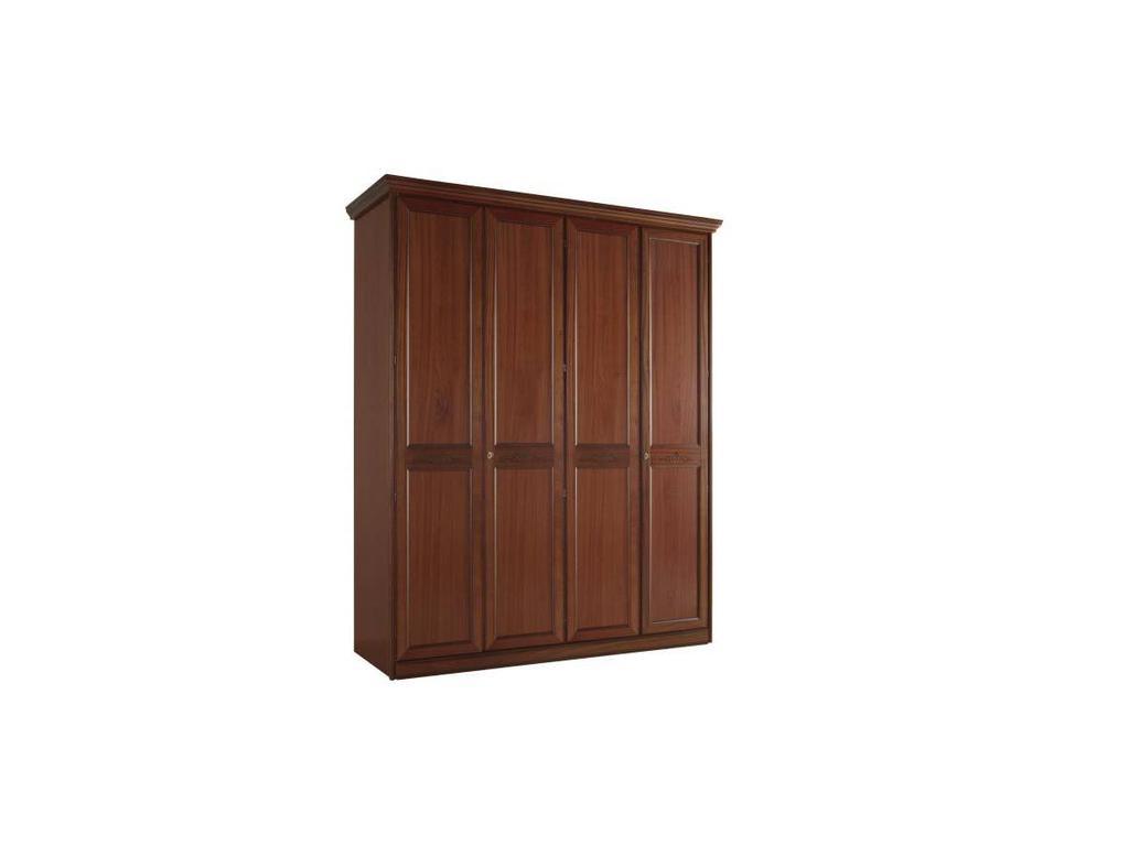 Liberty: Сан-Ремо: шкаф 4-х дверный  с декором (вишня)