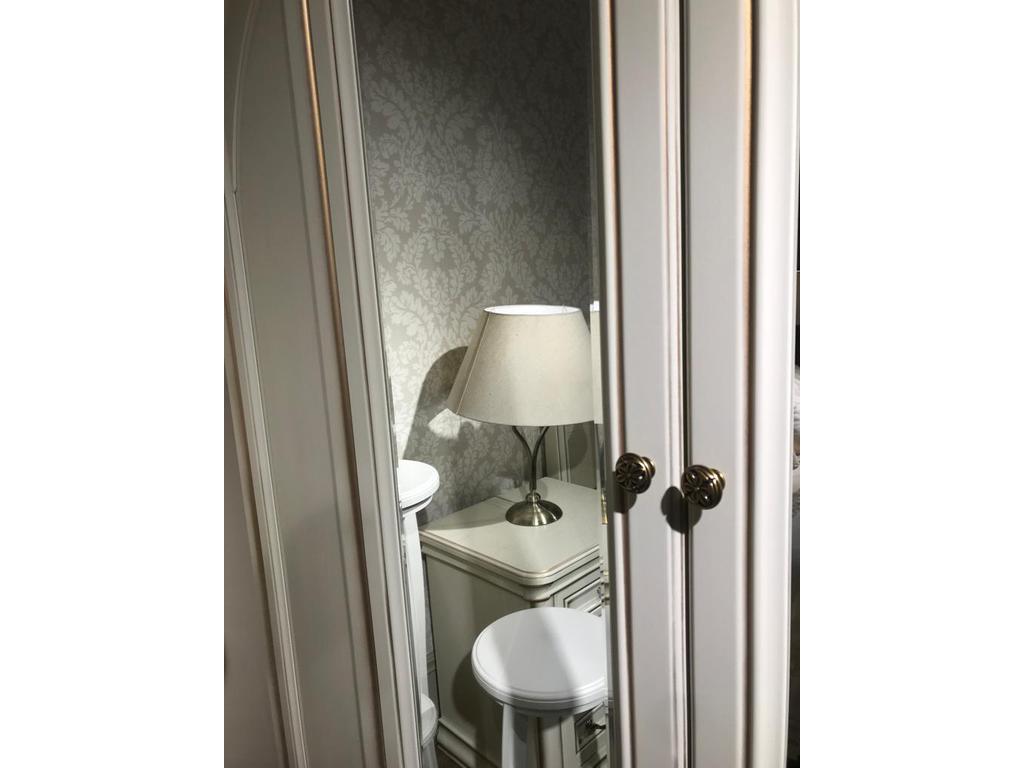 Свобода: Сильвия: шкаф 4 дверный  с зеркалами (белый ясень, золотая патина)