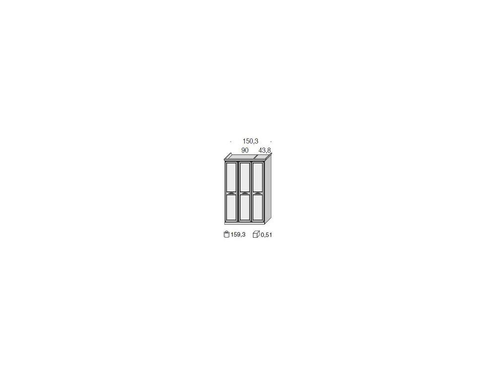 San Michele: Portofino: шкаф 3-х дверный   с декором (вишня)