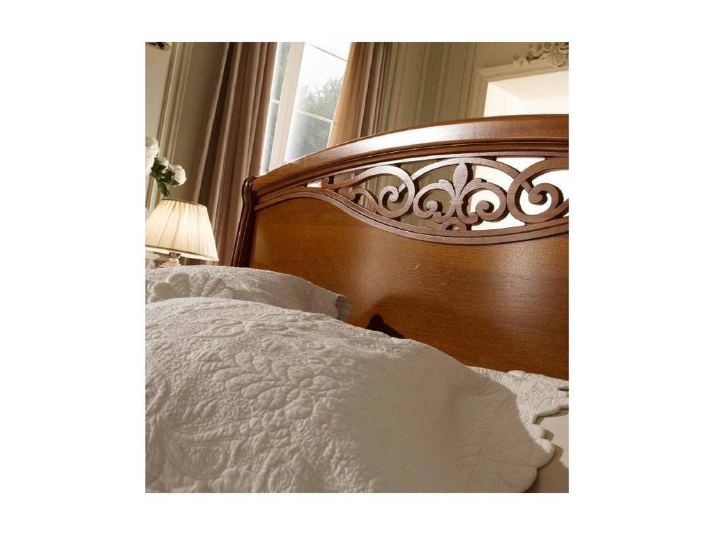 San Michele: Portofino: кровать Altea с резьбой 160х200 с изножьем  (вишня)