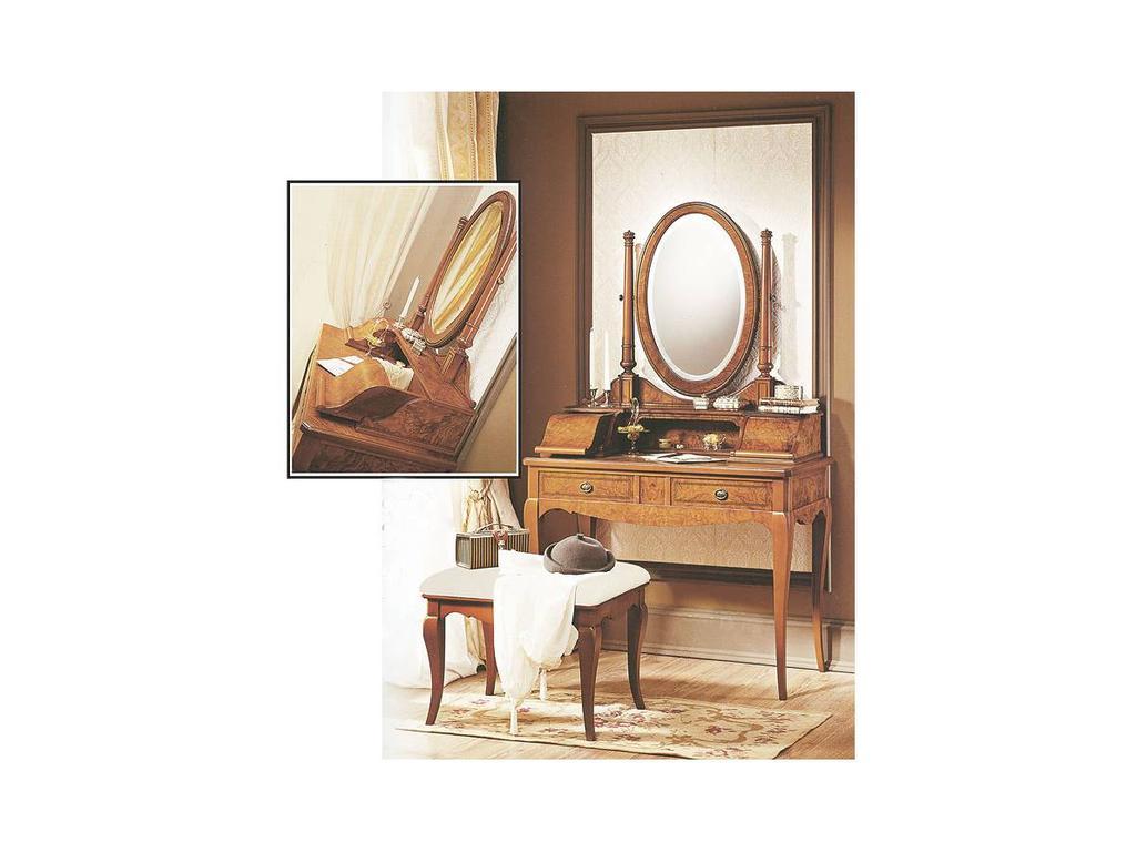 Висент Монторо: 45: стол туалетный малый с зеркалом  (oliva)