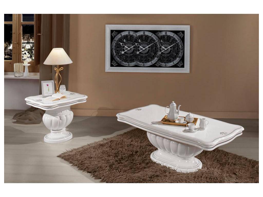 5204079 h2o design: престиж: стол журнальный (белый с серебр.