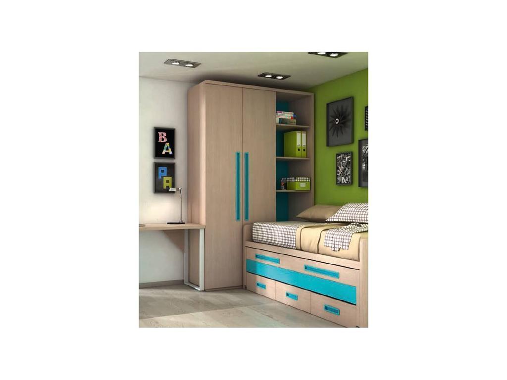 Joype: Diez: шкаф 2-х дверный  со стеллажом