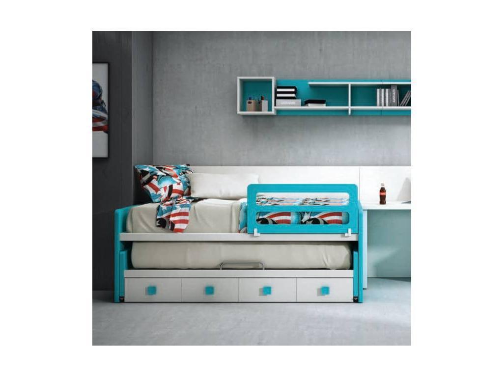 Joype: Diez: кровать односпальная  90х190 с выдвижной кроватью и 4 ящ.