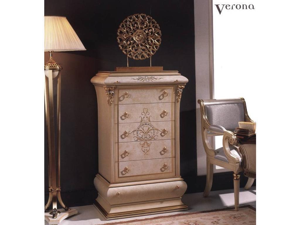 Vicente Zaragoza: Верона 40: комод высокий  (лак, золото)