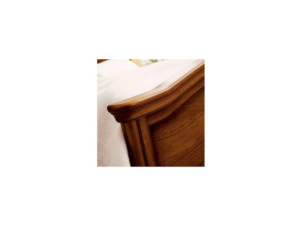Tomasella: Epoca: кровать 160х190 Эпоха с металлической вставкой  (темный орех)