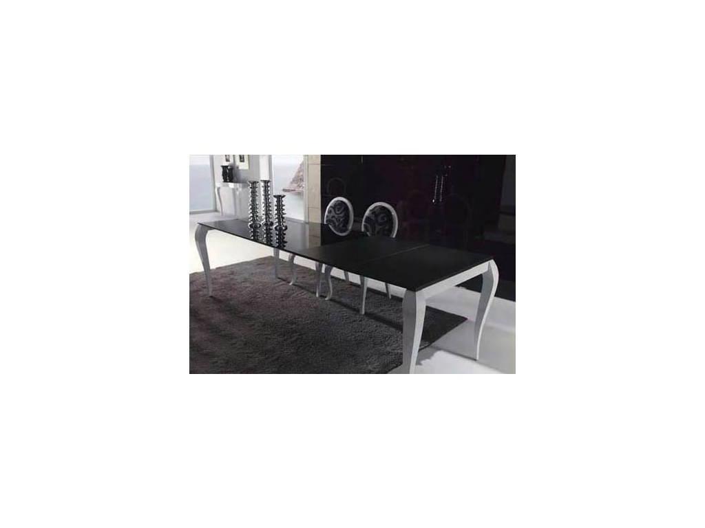Anzadi Анзади: Divani glass: стол обеденный раскладной Дивани  (черный, белый)