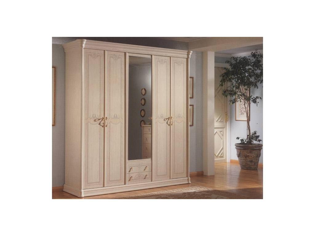 Vicente Folgado: 40: шкаф 5-ти дверный, 1 зеркало  (белый)