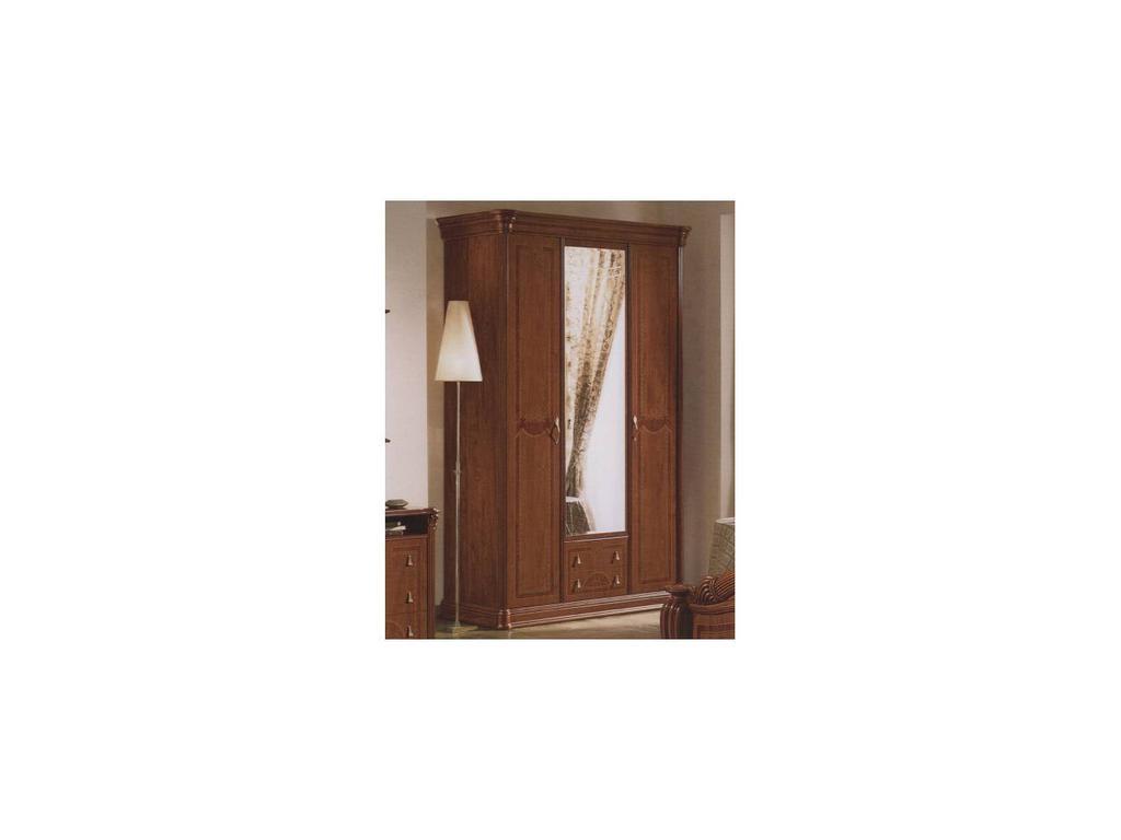 Vicente Folgado: 40: шкаф 3-х дверный 1 зеркало  (орех)