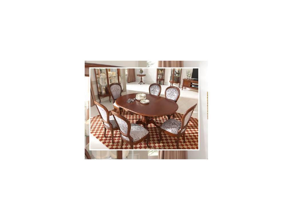 Panamar: стол обеденный раскладной круглый  (орех)