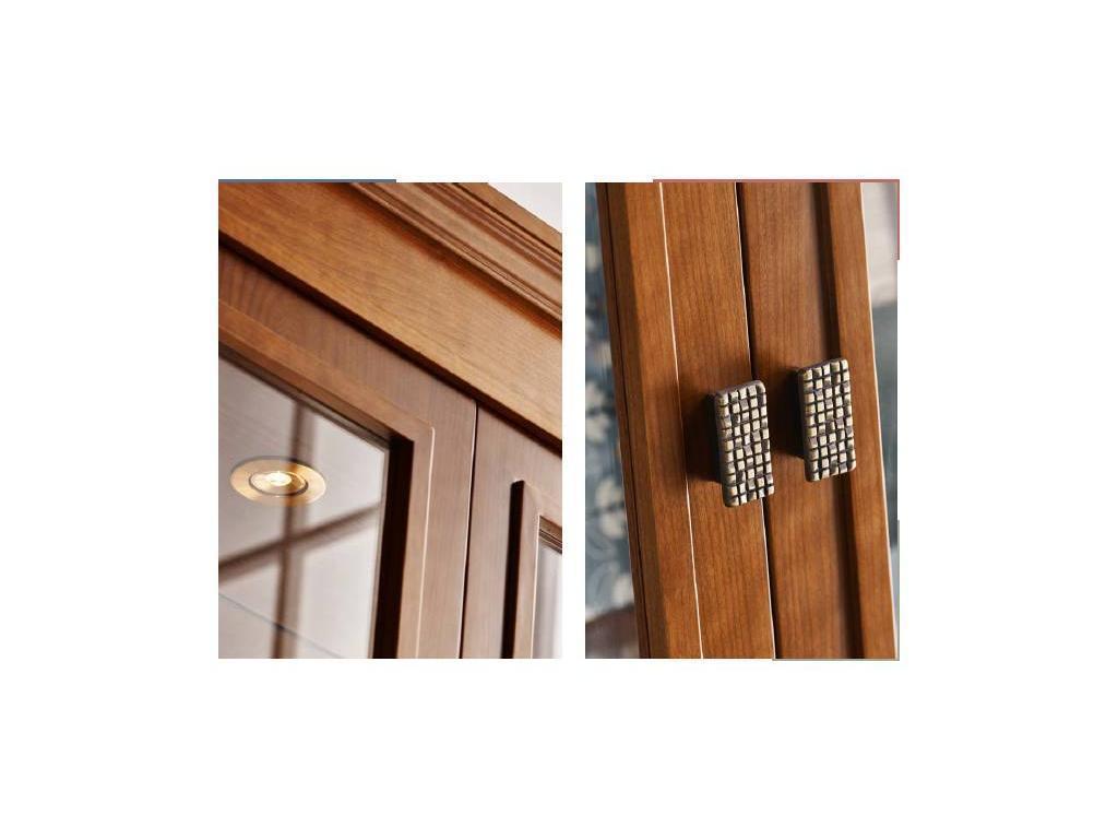 Panamar: витрина 2-х дверная  (орех)