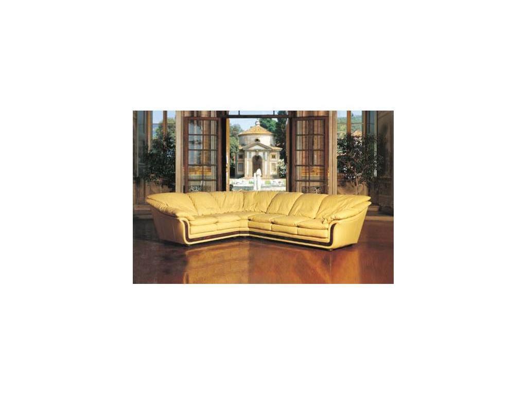 Nieri: Cornice: диван угловой раскладной кожа