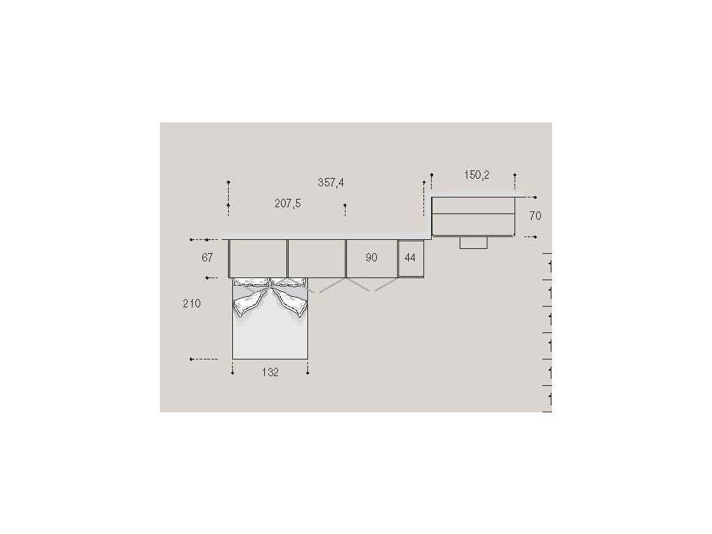 Pitti Charm: детская комната 14 с кроватью (saenza filetto)