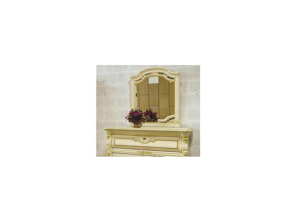 MobilPiu: Регина: зеркало для комода (слоновая кость, золото)