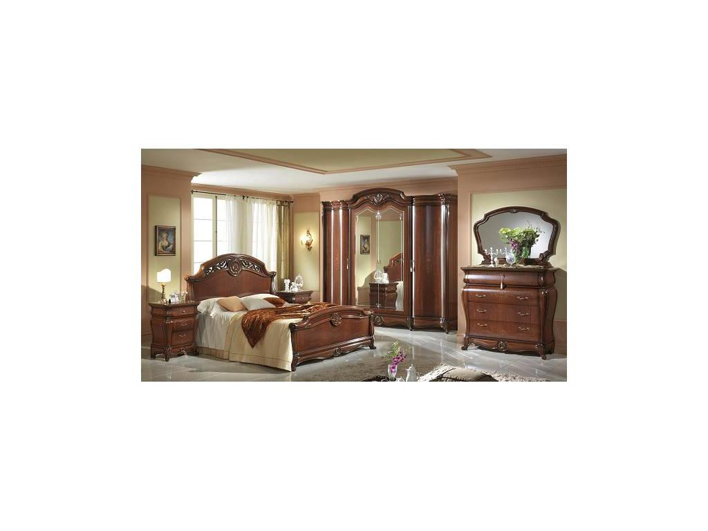 MobilPiu: Дукале: спальная комната с 4-х дверным шкафом (орех)