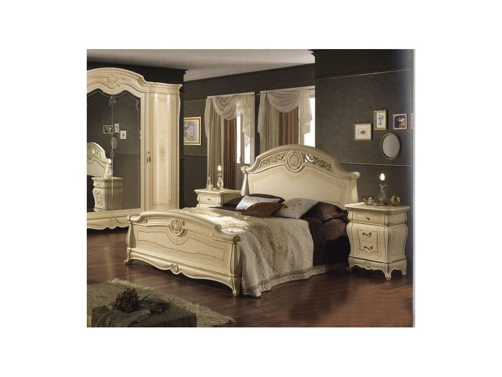MobilPiu: Дукале: кровать 160х190 (слоновая кость)