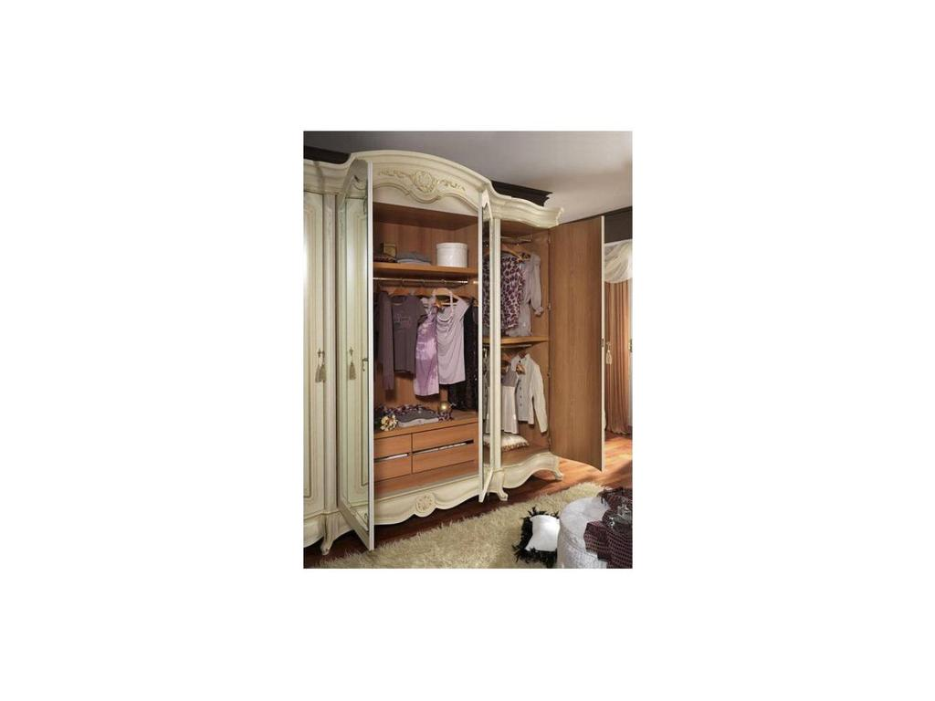 MobilPiu: Дукале: шкаф 4-х дверный (слоновая кость)
